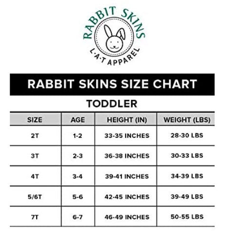 Phillygoat Kids Tee Size Chart
