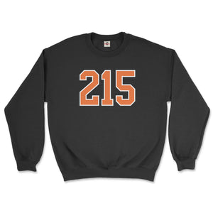 215 philadelphia flyers area code black sweatshirt from phillygoat