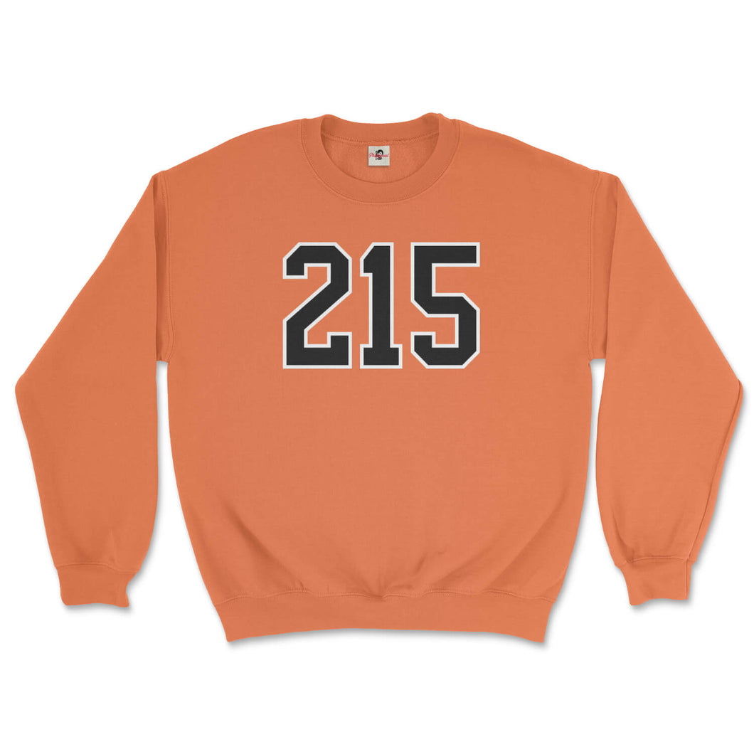 215 philadelphia flyers area code orange sweatshirt from phillygoat