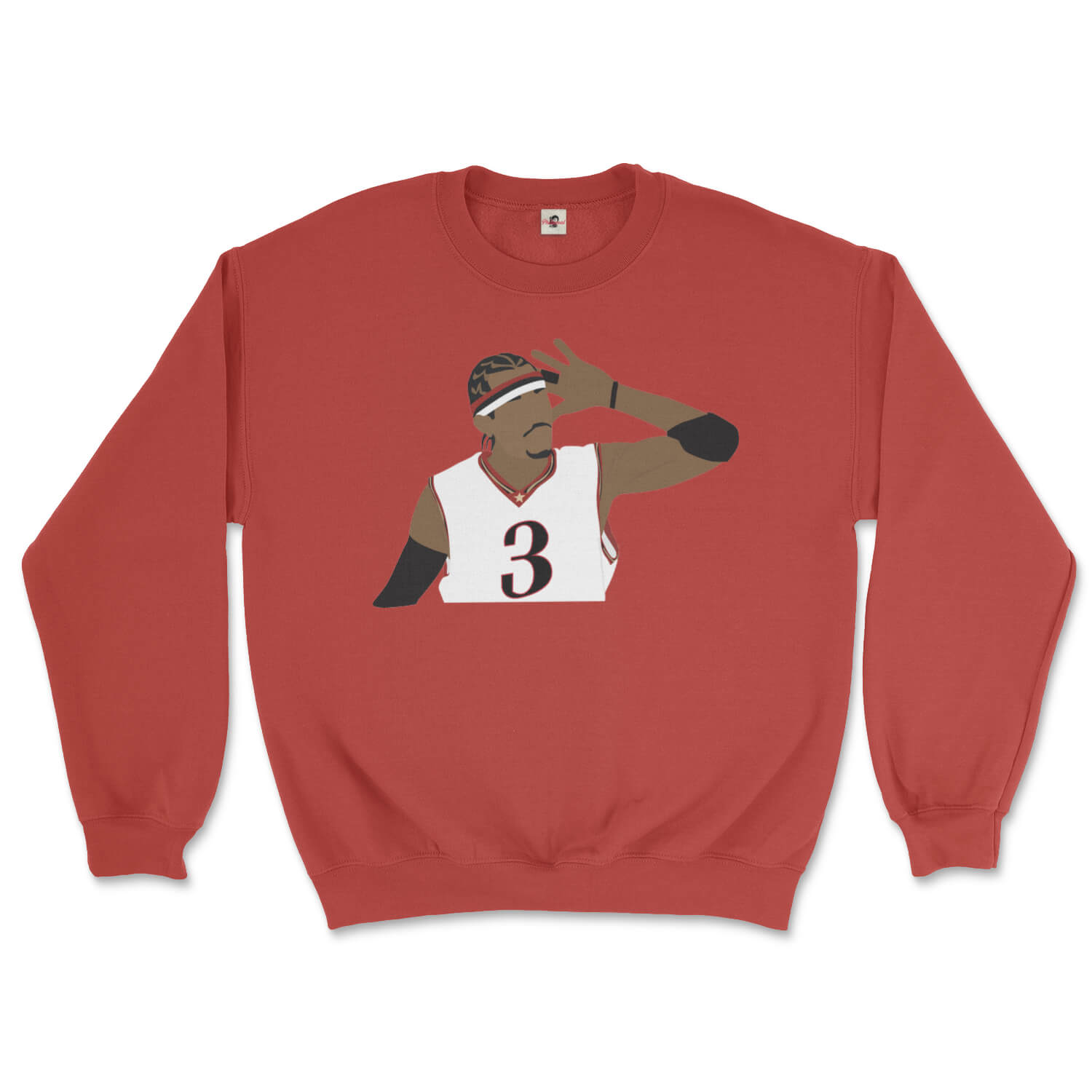 Philadelphia 76ers Allen Iverson the Answer on a red sweatshirt from Phillygoat
