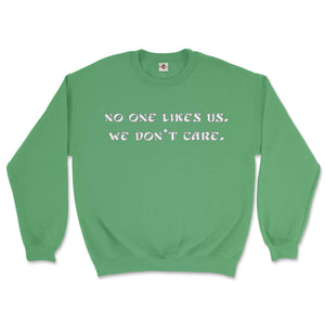 philadelphia eagles no one likes we don't care green sweatshirt from phillygoat