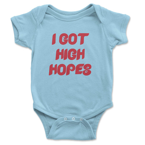 philadelphia phillies i got high hopes baby infant light blue onesie from phillygoat