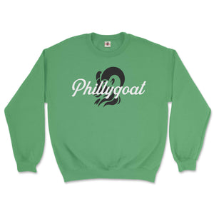 philadelphia clothes store phillygoat logo irish green sweatshirt