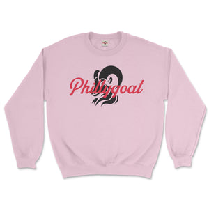philadelphia clothes store phillygoat logo pink sweatshirt
