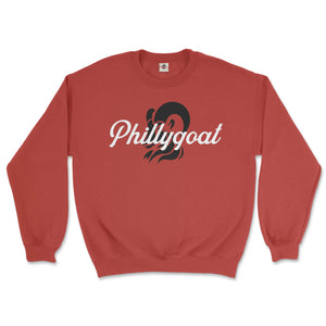 philadelphia clothes store phillygoat logo red sweatshirt