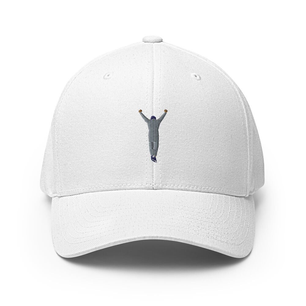 rocky white flexfit flexible stretch band fitted hat from phillygoat