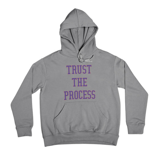 philadelphia 76ers joel embiid trust the process sport grey hooded sweatshirt from phillygoat