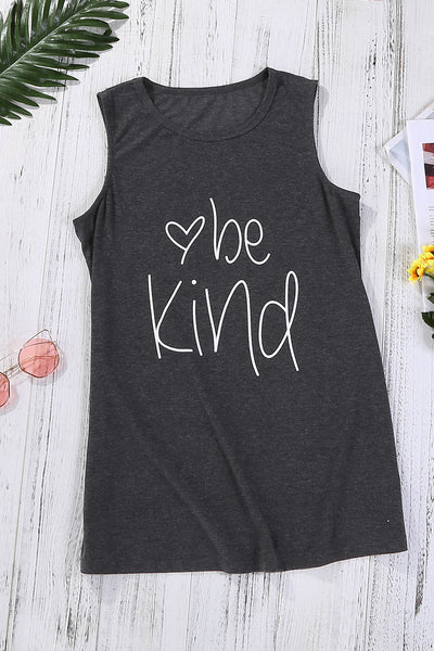 Be Kind Gray Tank Top