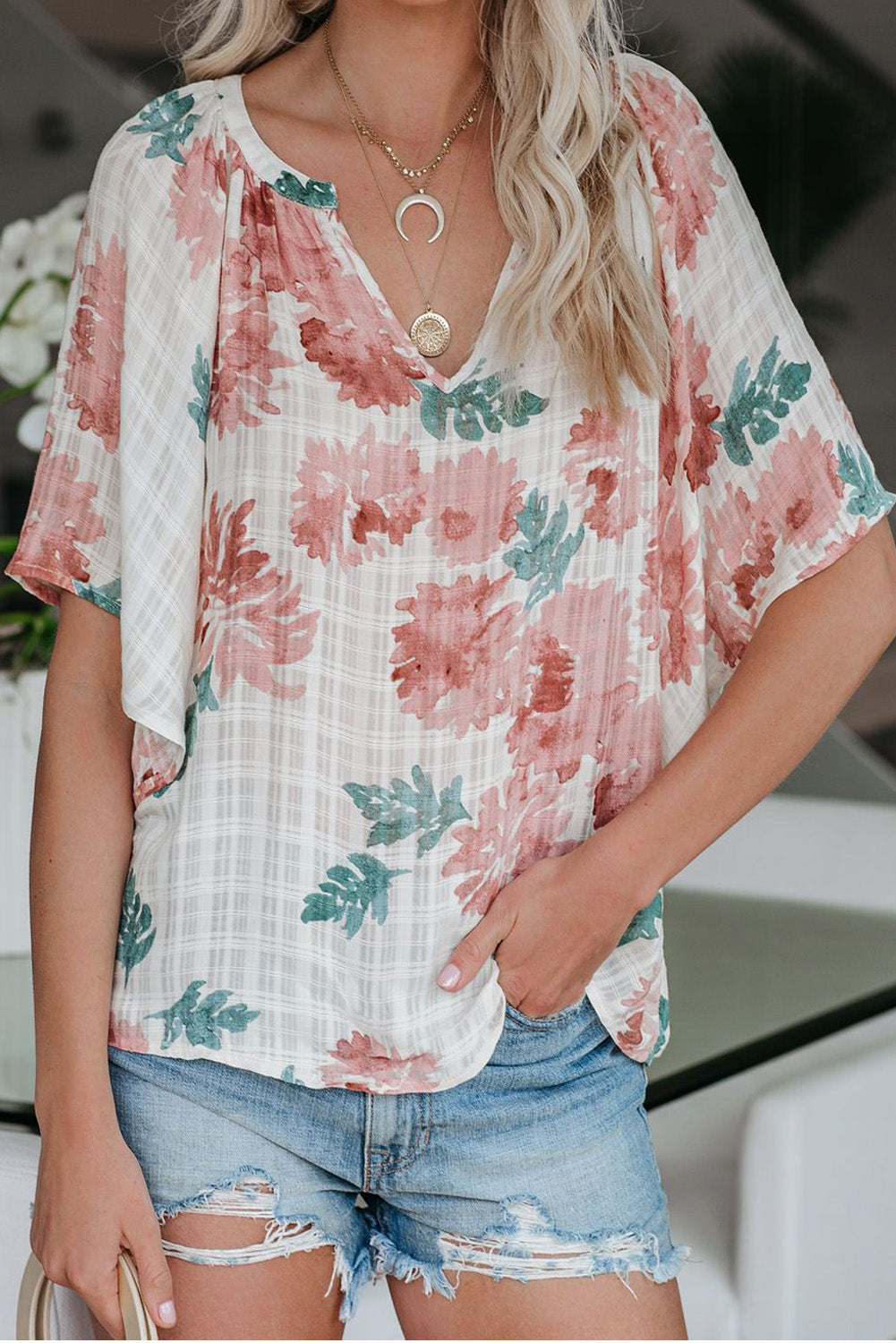 Honeysuckle Sweet Floral Top