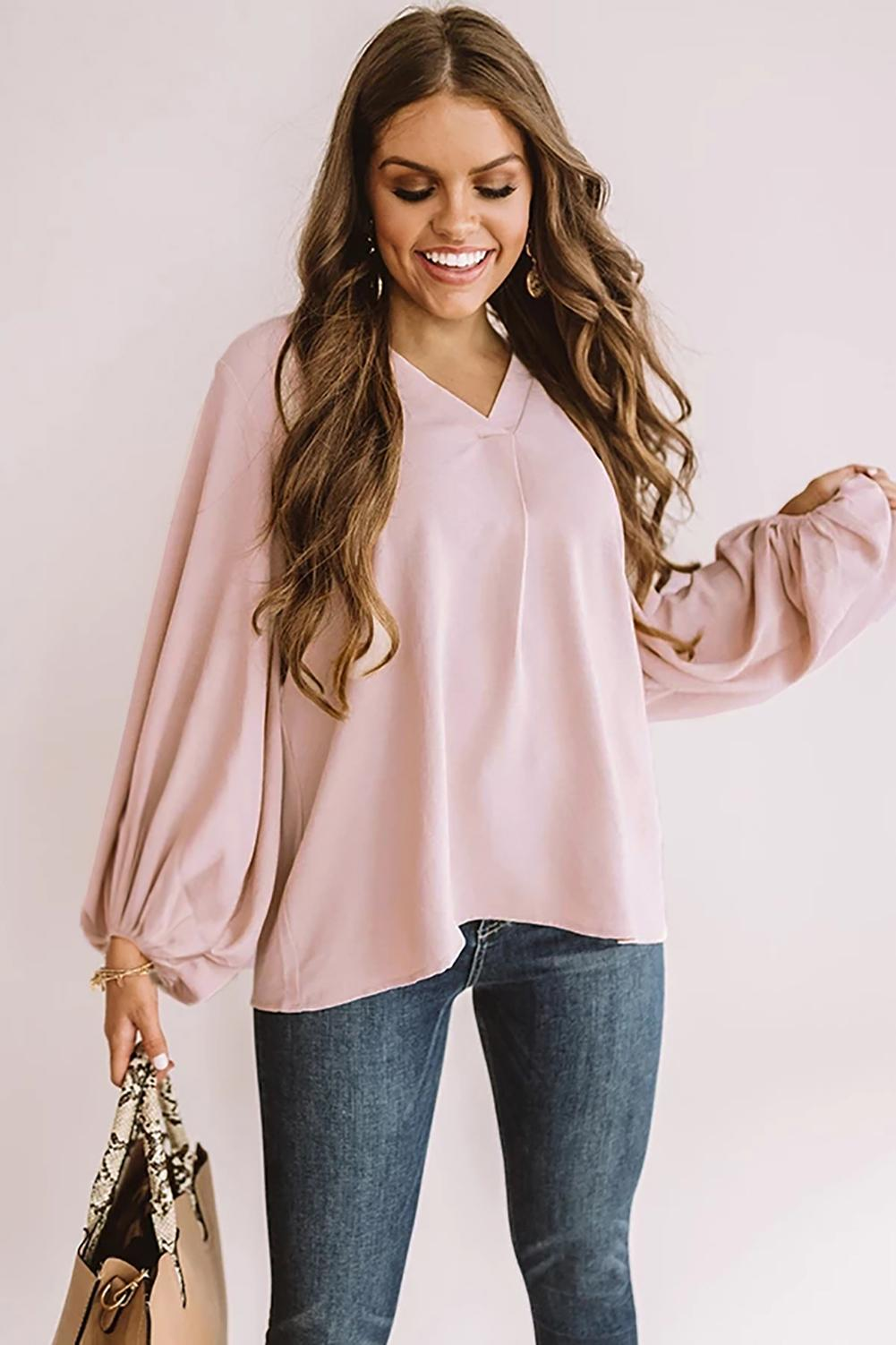 Pink Set For Success Shift Top
