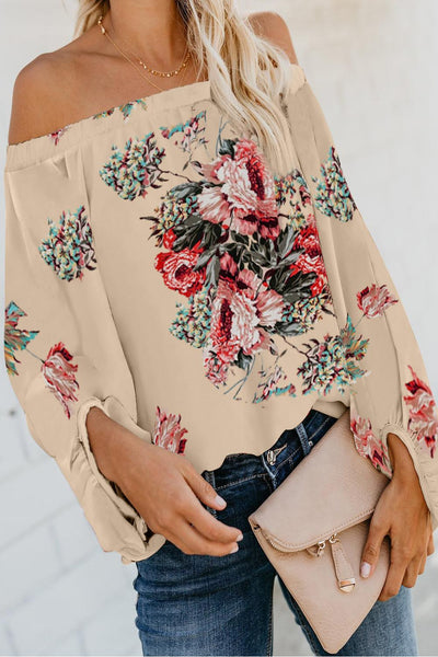 Apricot Wherever You Go Off The Shoulder Top