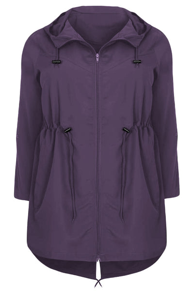 Plus Size Pocket Parka Jacket