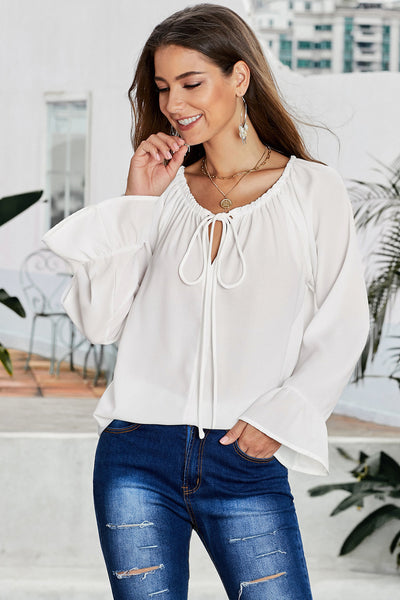 White Classic Tale Blouse