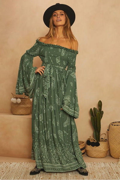 All Around The World Maxi Dress