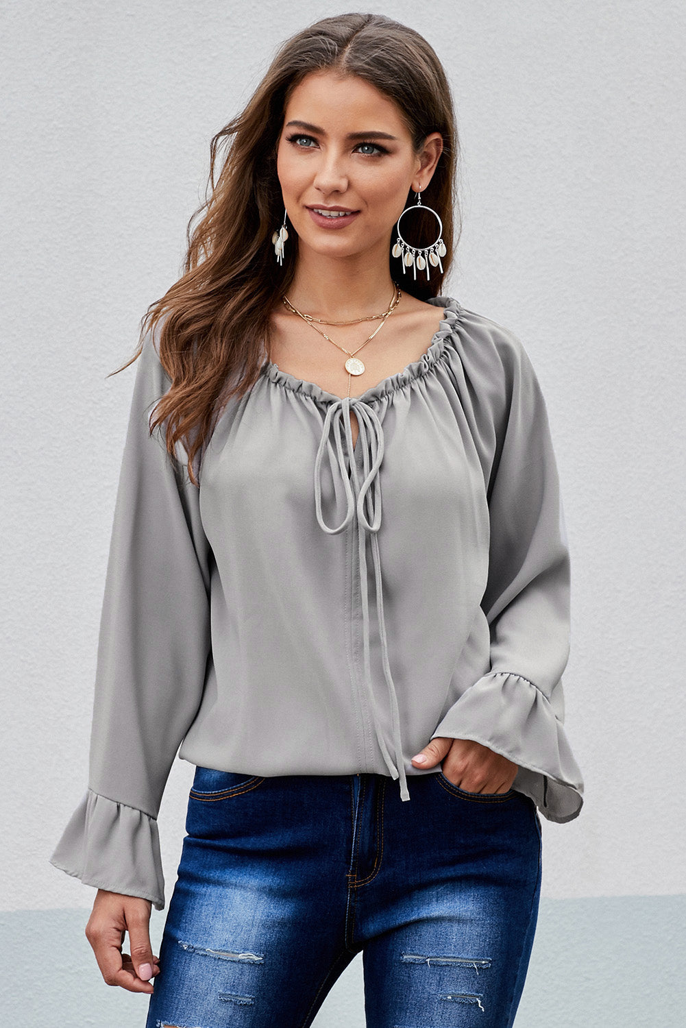 Gray Classic Tale Blouse