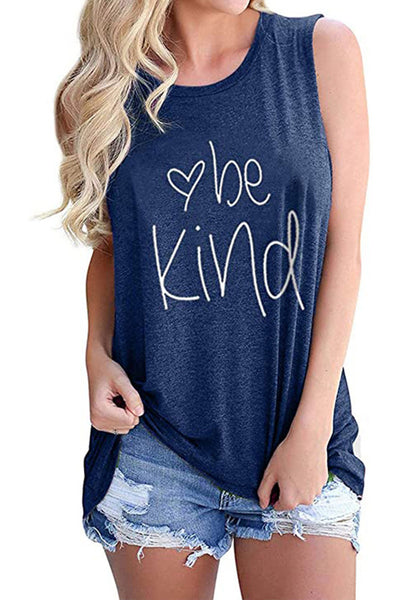 Be Kind Blue Tank Top