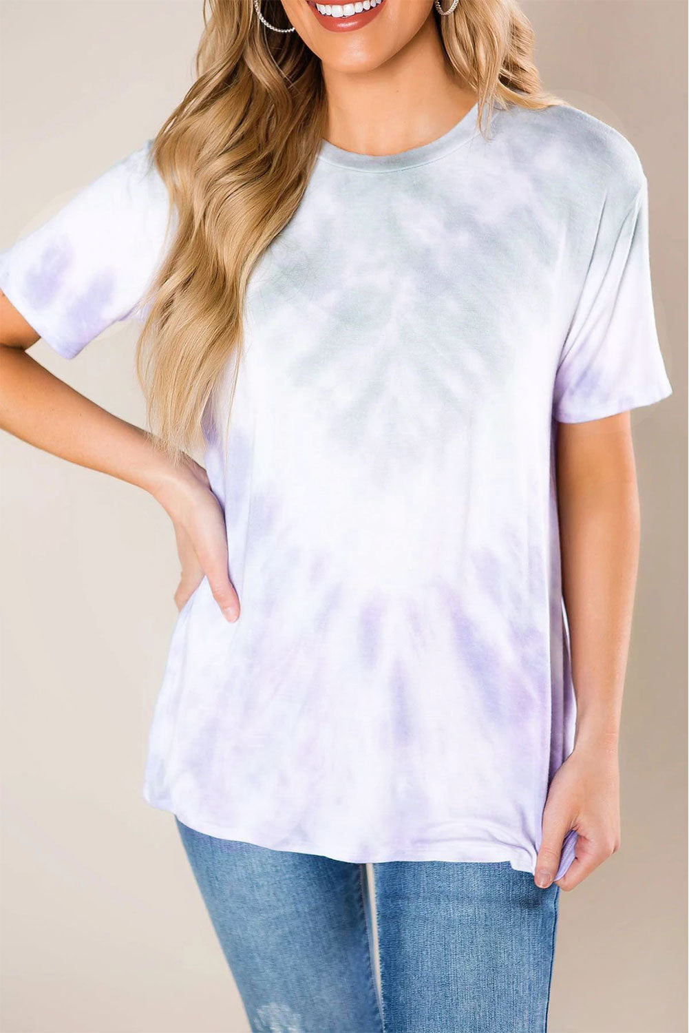 Gradient Purple Tie Dye T-shirt