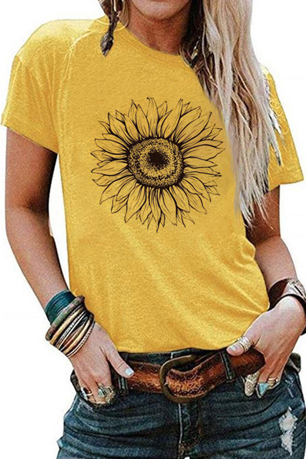 Yellow Sunflower Base T-shirt