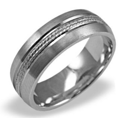 Men Titanium Wedding Band