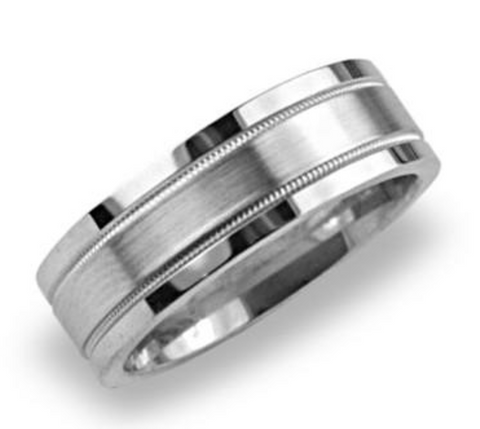 Mens Platinum Wedding Band
