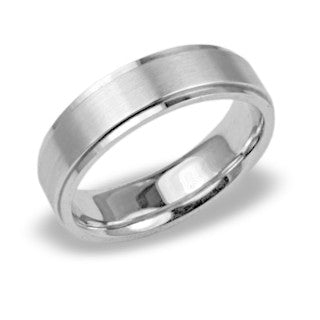 White Gold Mens Wedding Bands