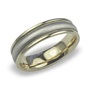 Gold Platinum Wedding Band