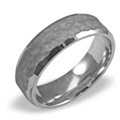 Mens Wedding Band In Platinum