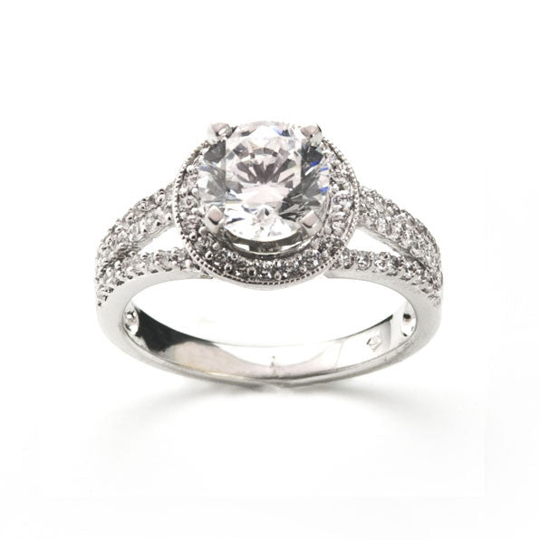 New Halo Diamond Engagement Ring
