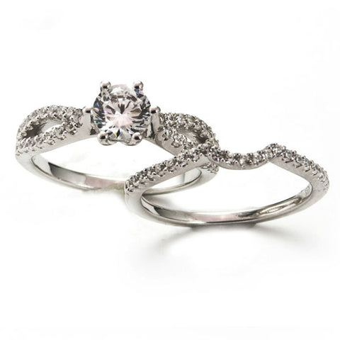 Bridal Diamond Engagement Rings Wedding Set