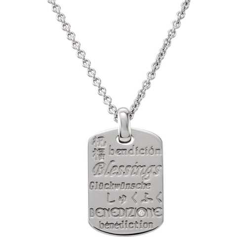 Diamond Blessings Necklace in Silver