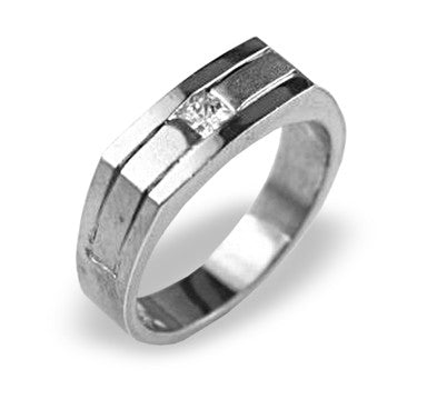 Men's Wedding Band 1/5 Carat Diamond