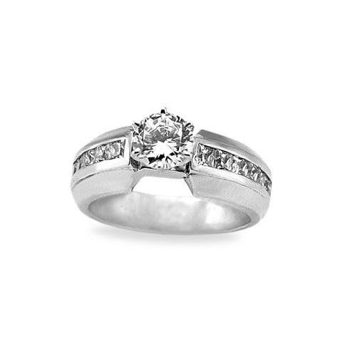 Diamond Princess Cut Engagement Rings