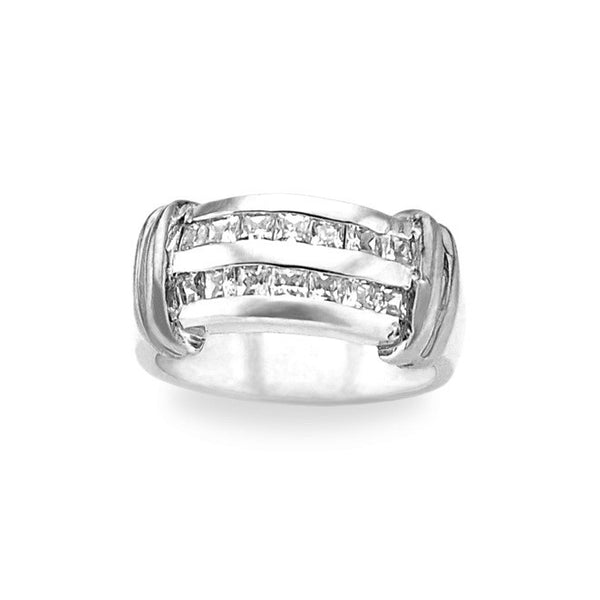 1 Carat Princess Cut Wedding Band