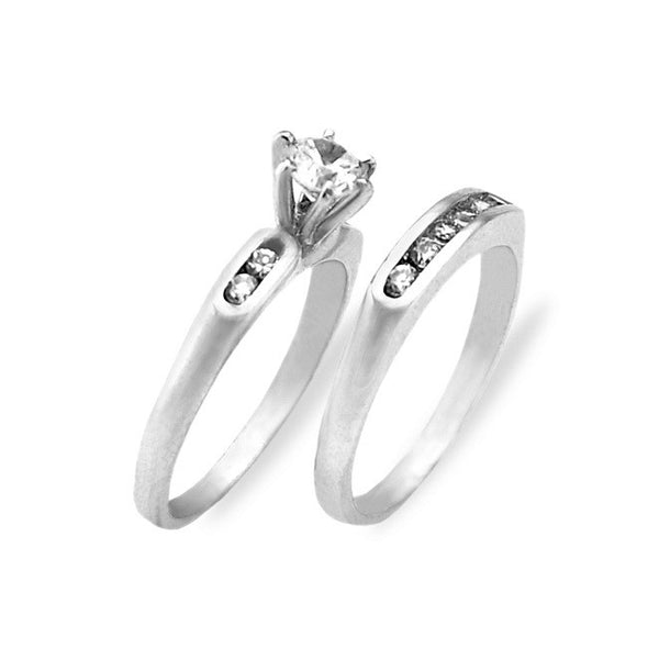 Platinum and Diamond Wedding Ring Set