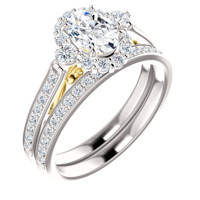 Oval Diamond Wedding Set – Engagement & Wedding Band Specialists in ...