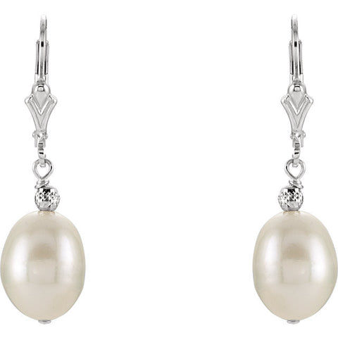 Freshwater Cultured Pearl Earrings in Silver