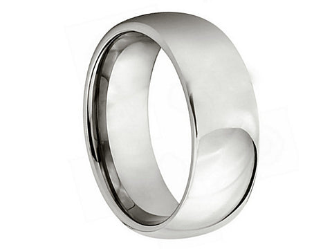Brushed Dome Tungsten Ring