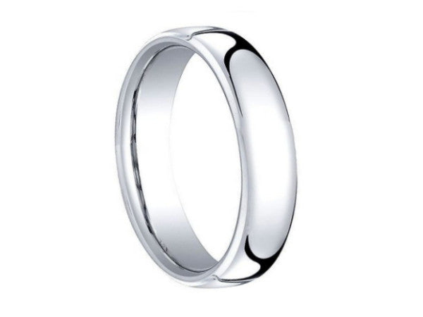 Polished Slight Dome Tungsten Ring