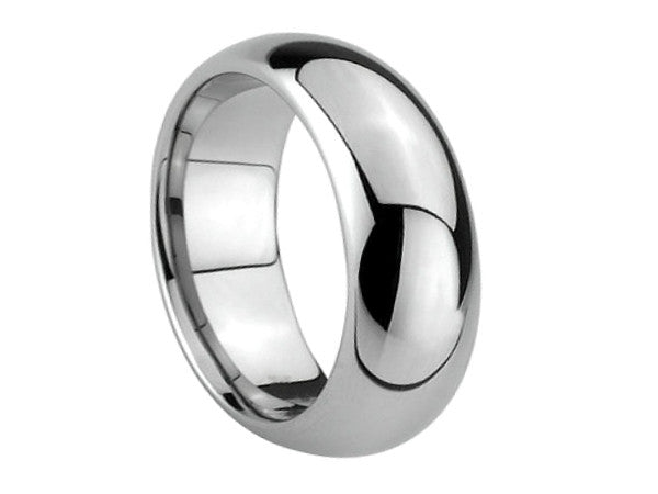 Polished Full Dome Tungsten Ring