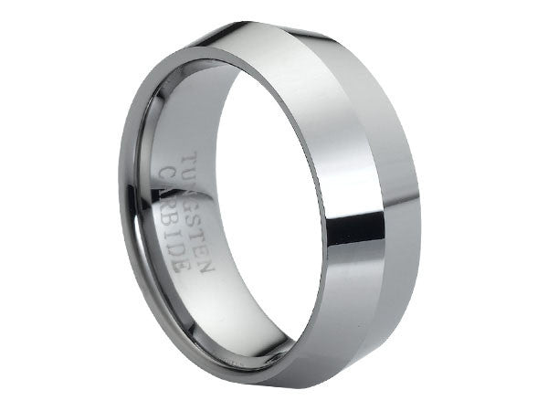 Polished Two-Sided Facet Tungsten Carbide Ring