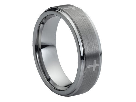 Polished Tungsten Ring with Fine Celtic Design