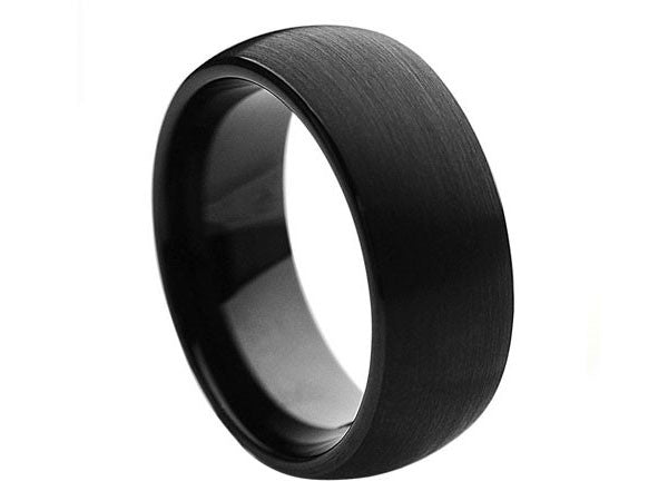 Black Tungsten Wedding Bands for Men