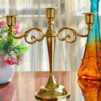 Silver/Gold/Black/Bronze Metal Candle Holder 5-arms/3-arms Candle Stand Wedding Candlestick Candelabra