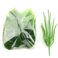 1 Bouquet/18 leaves Artificial Silk Palm Monstera Leaves Plant for Hawaii Luau Party Decorations Beach Wedding Table Decoration