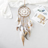 Creative Hollow Dream Catcher Home Wind Chime Pendant Wedding Bedroom Kids Room Decoration Feather Ornaments Dream Catcher-60295