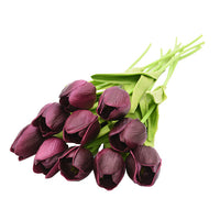 10PCS Tulip Artificial Flower Real Touch Artificial Bouquet Fake Flower for Wedding Decoration Flowers Home Garen Decor