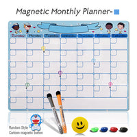 A3 Magnetic Weekly & Monthly Planner Whiteboard Fridge Magnet Flexible Daily Message Drawing Refrigerator Bulletin White Board
