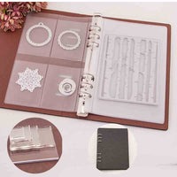 Cutting Dies Storage Book High Transparency Acrylic Block for Inner Page Die Cutter Template Books Collections Paper Craft
