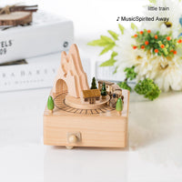 Children Toy Wood Crafts Vintage Retro Birthday Gift Home Decor Accessories Kawaii Carousel Musical Boxes Chirstmas New Year
