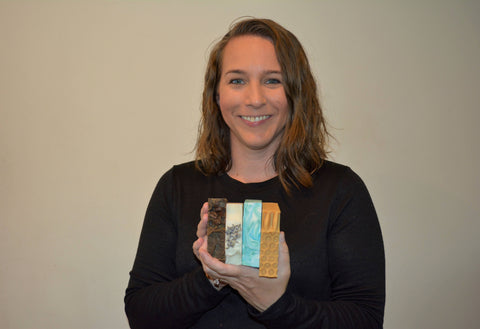 Tiffany Riffer hold her handmade soap